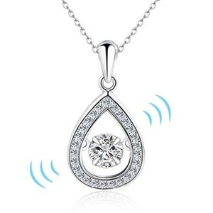 Jewelry - Dancing Stone S925 Sterling Silver Pendant Necklac